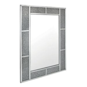 Milano Crystal Brick Effect Wall Mirror