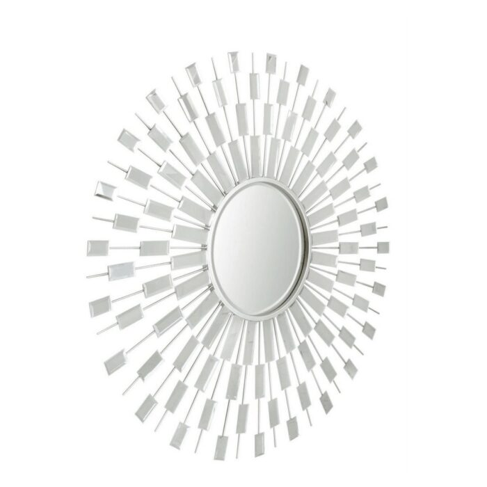 Sunburst Silver Wall Mirror