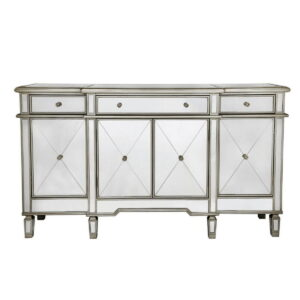 Beaumont 3 Drawer 4 Door Mirror Cabinet