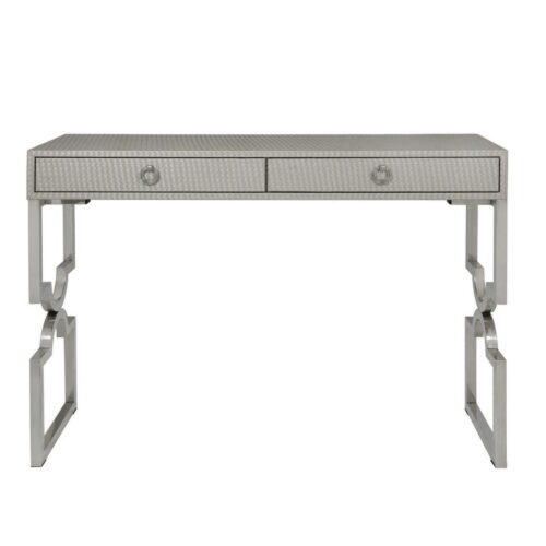 Faux Weave Leather Console