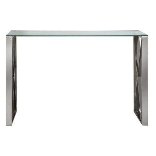 Zenith Stainless Steel Console Table