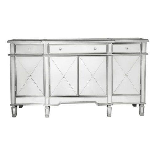Beaumont 3 Drawer 4 Door Mirror Cabinet