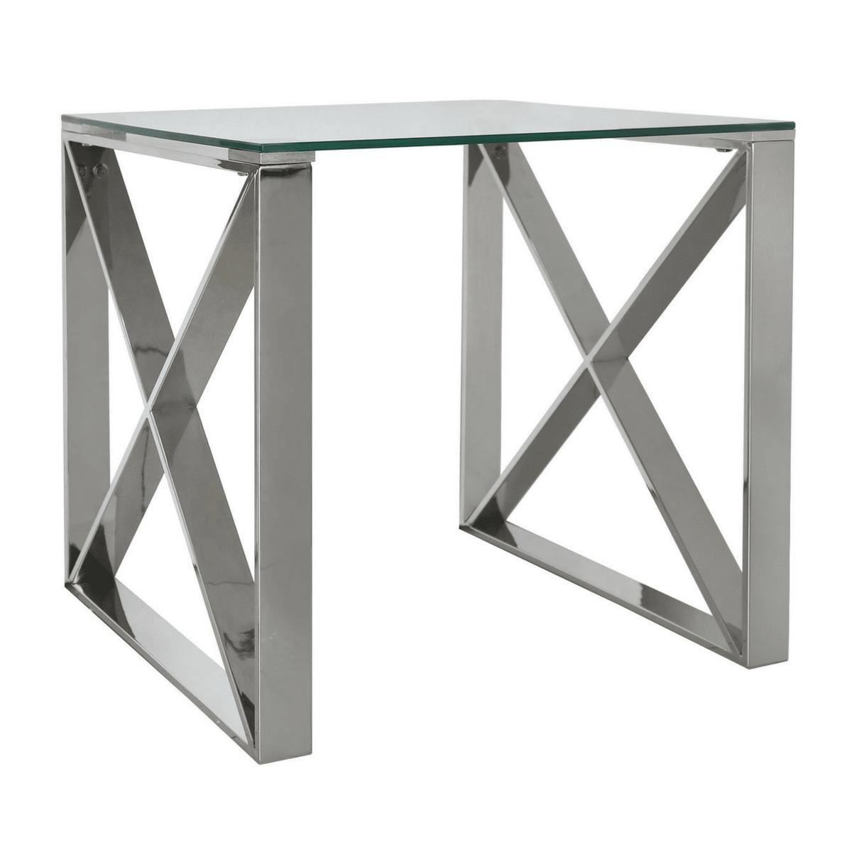 Zenith Stainless Steel End Table
