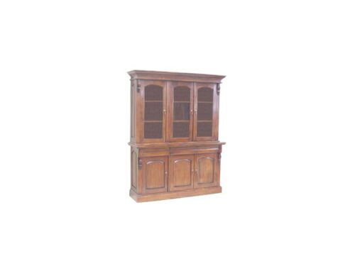 French Victorian 3 Door Bookcase (BOOK4)