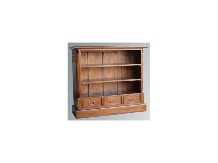 French Victorian 3 Drawer Low Bookcase (BOOK13)