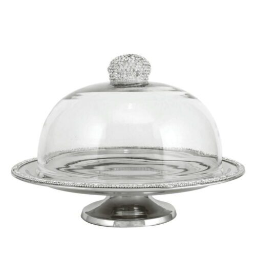 Glitz Clear Glass Cake Dome