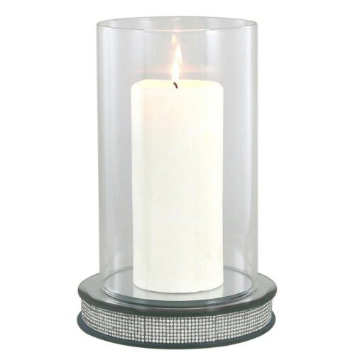 Glitz Hurricane Pillar Candle Holder
