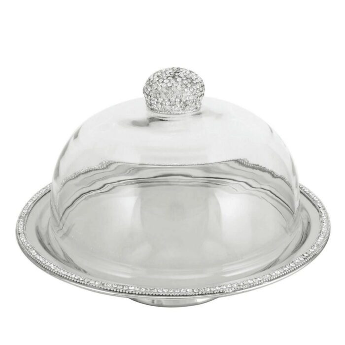 Glitz Clear Glass Cake Dome