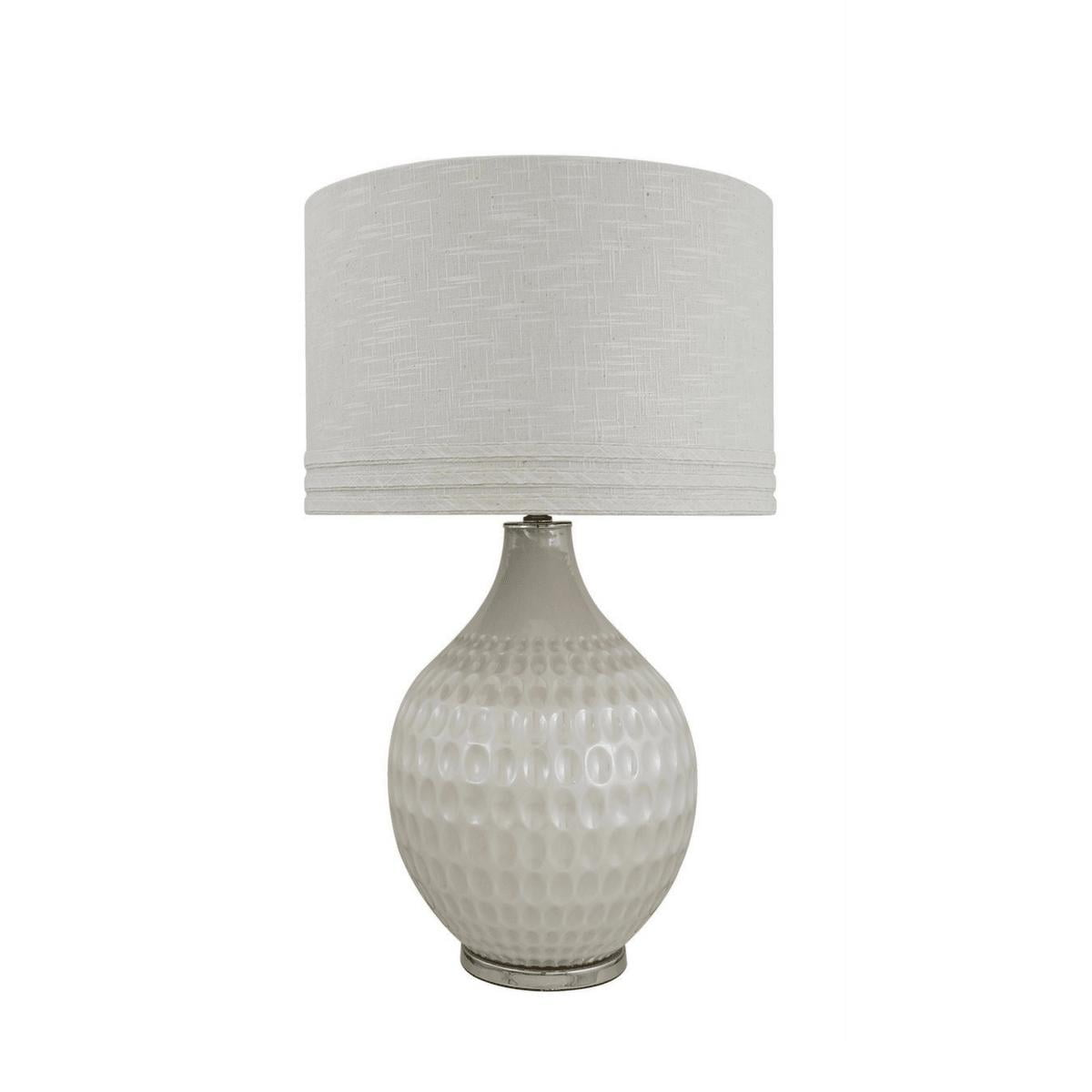 Pearl Glass Dimple Table Lamp