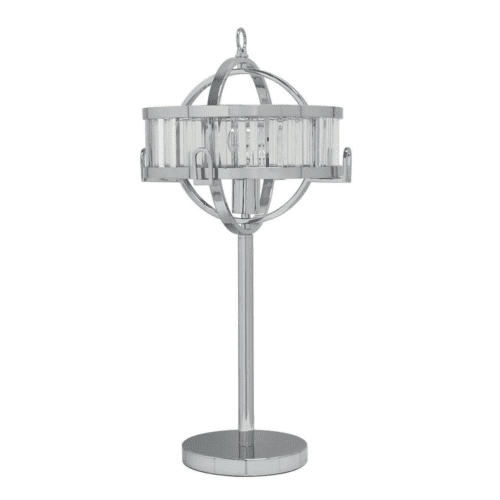 Ramsay Chrome & Crystal Lamp
