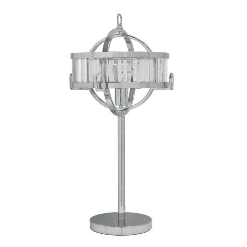 Ramsay Chrome & Crystal Lamp