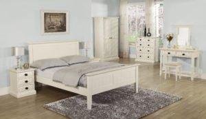 Kerry Cream 5ft Panel Bedframe