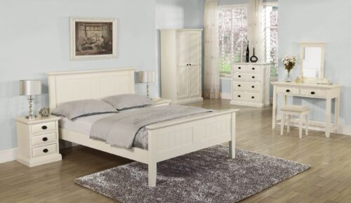Kerry Cream 5ft Panel Bedframe