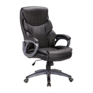 Breffin Brown Swivel Office Chair with Arms