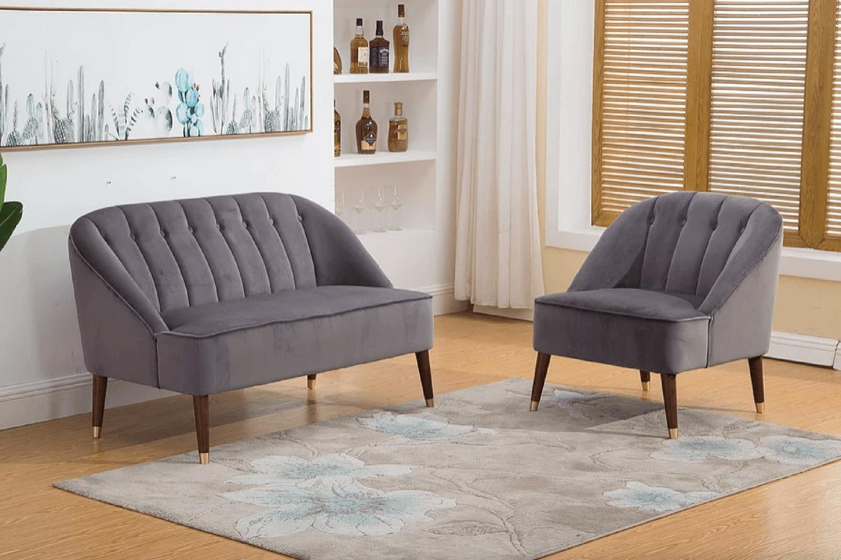 Lauren 2 Seater Velvet Loveseat