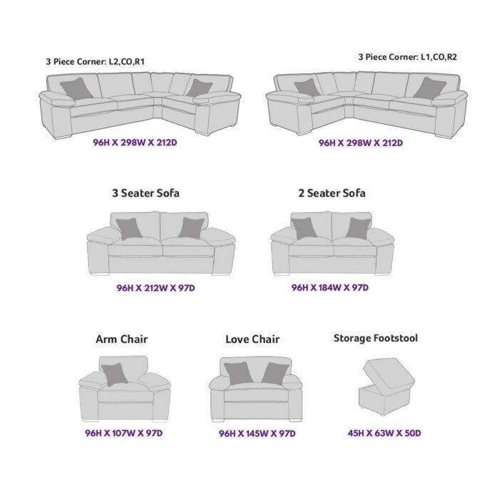 April 2 Seater Sofa