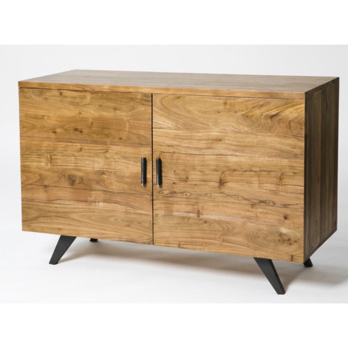 2 door wood and metal sideboard