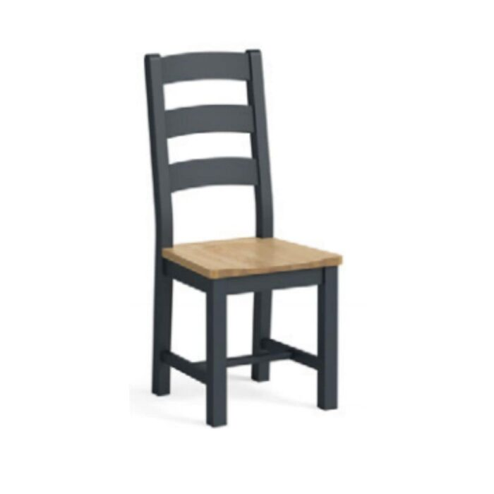 charcoal and oak dining chair