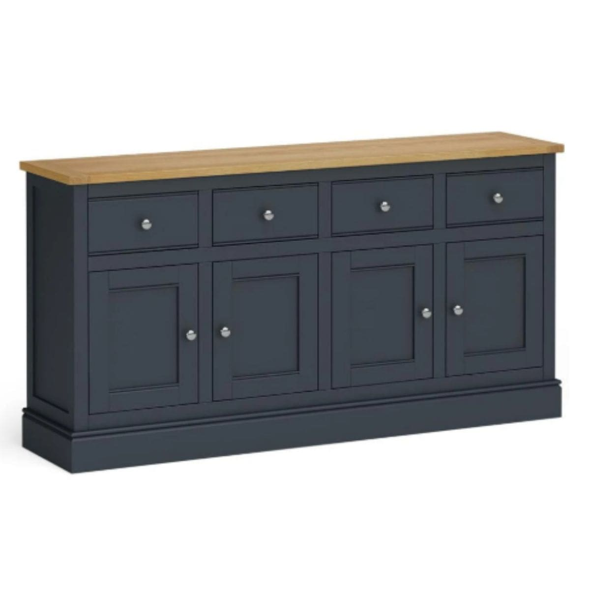 extra large charcoal and oak sideboard