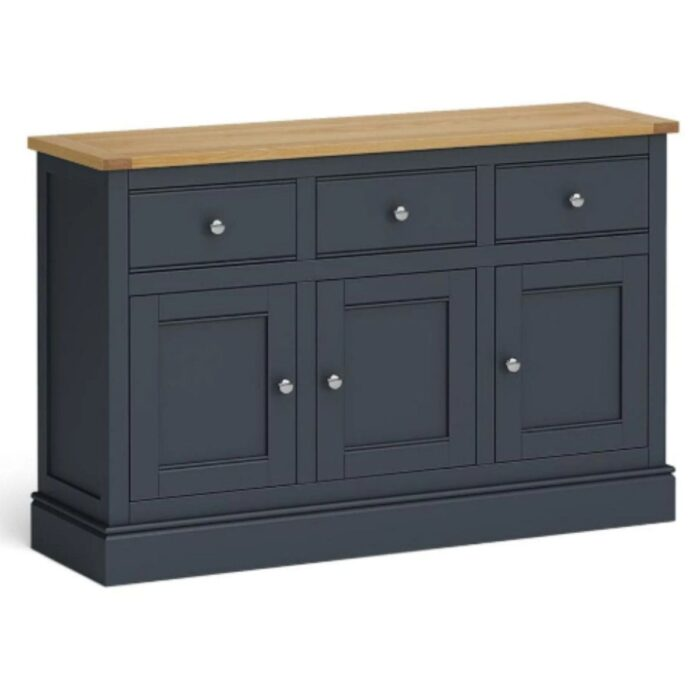 large charcoal and oak sideboard