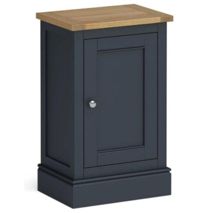mini charcoal and oak cupboard