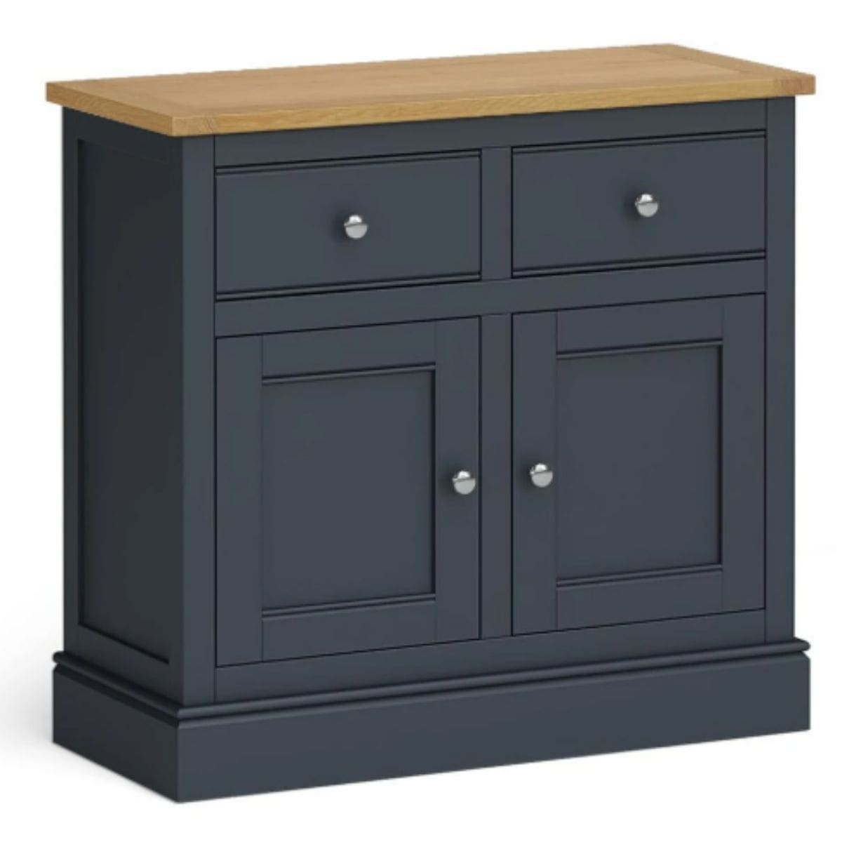 small charcoal and oak sideboard