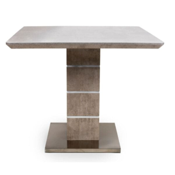 Denny Concrete Effect Dining Table available at Corcoran's Furniture & Carpets