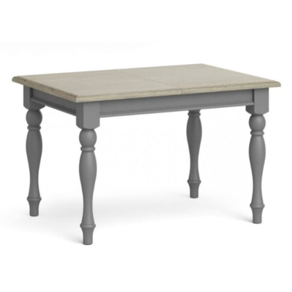 Mikey Grey Wooden Extendable Dining Table available at Corcoran's Furniture & Carpets