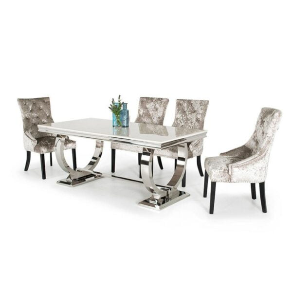 Arthur Dining Table available at Corcoran's Furniture & Carpets
