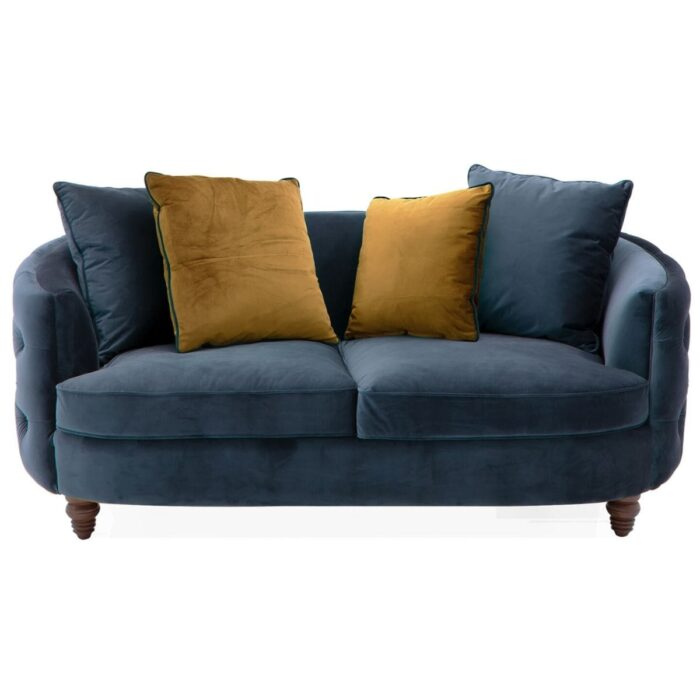 curved button back 2 seater sofa
