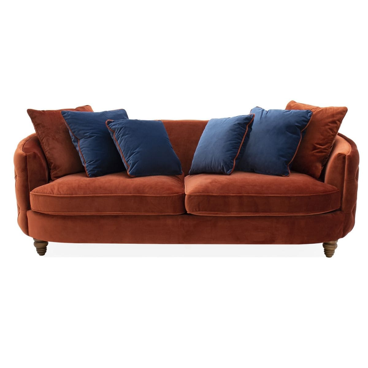 curved button back 3 seater sofa