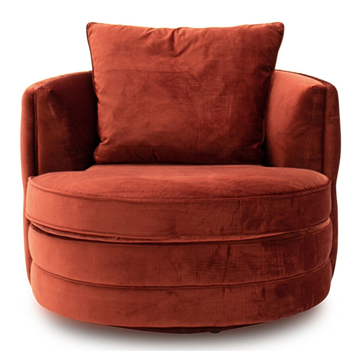 curved button back swivel chair