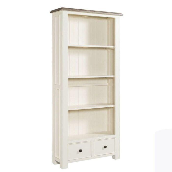 two tone bookcase