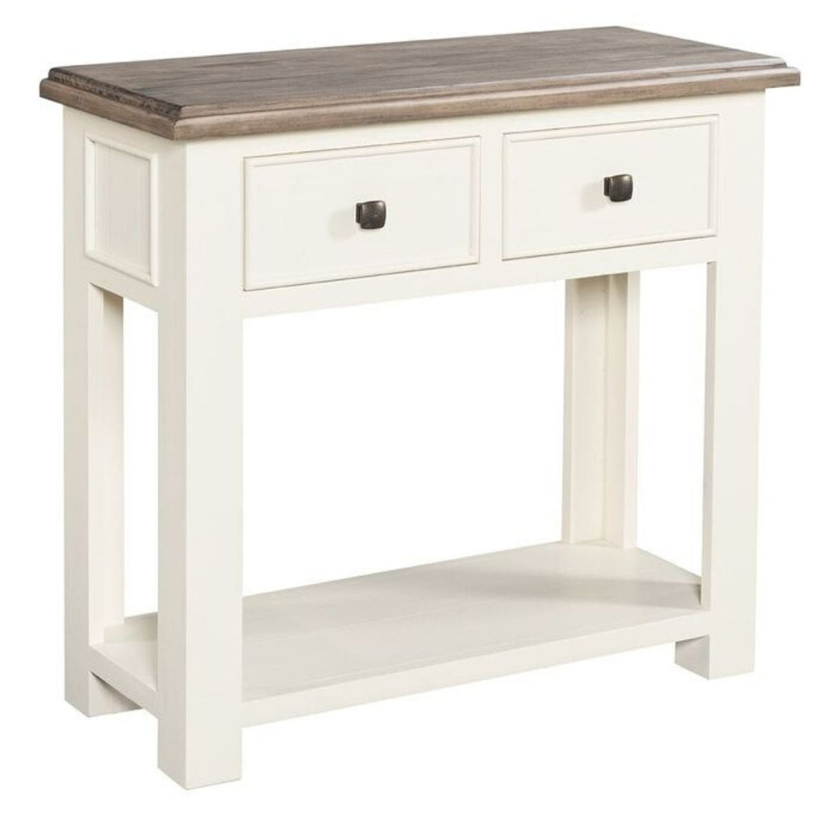 two tone console table