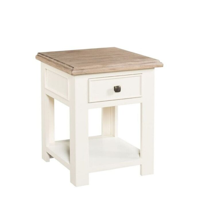two tone lamp table