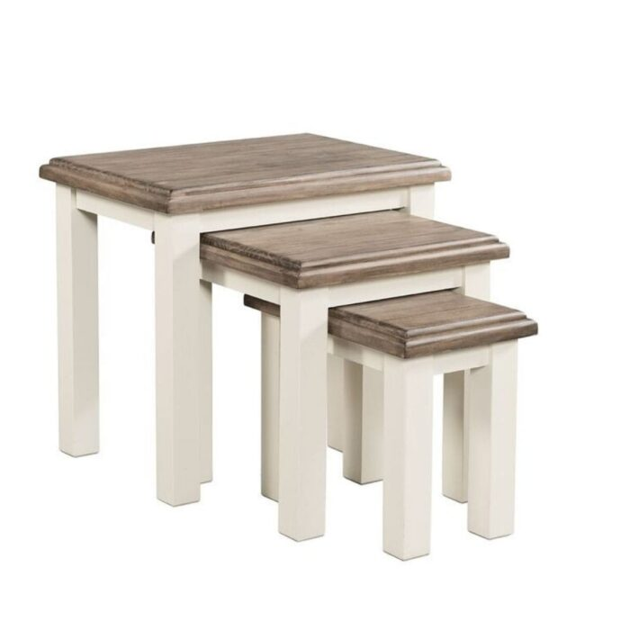 two tone nest of tables